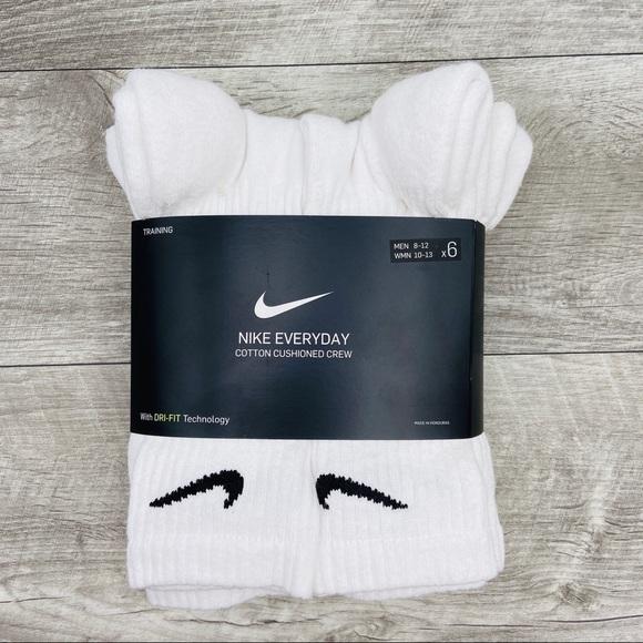 Campanilla Ondas Fondo verde  Nike Underwear & Socks   Nike Cotton Cushion Crew 6 White Socks   Poshmark
